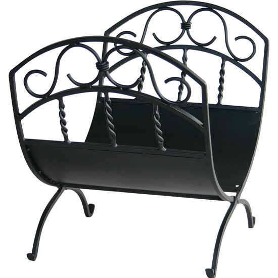 Wrought Iron Log Rack with Scrolls