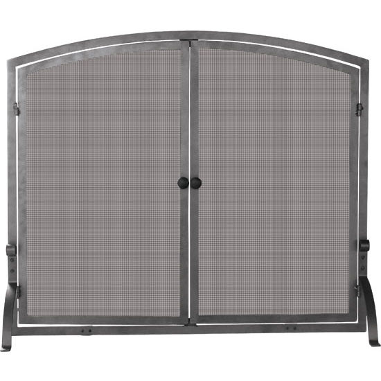 Medium Single Panel Olde World Iron Screen with Doors