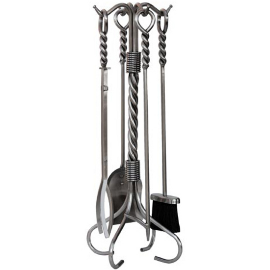 5 Piece Stainless Steel Fireset with Twist Handles