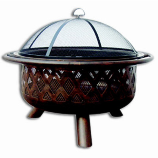 Uniflame 32'' Round Bronze Outdoor Firebowl
