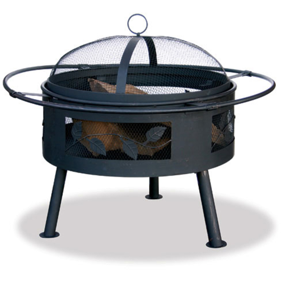 Uniflame Firebowl with Leaf Design