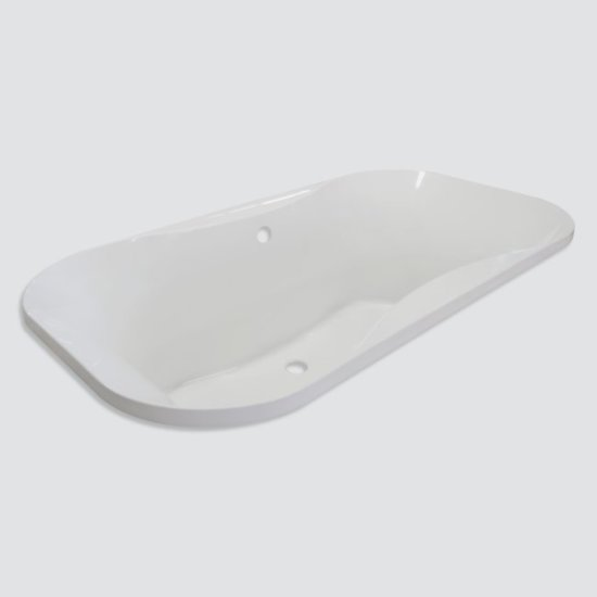"Valley Acrylic Bordeaux Contemporary 66"" W x 36"" D White Acrylic Contoured Drop-In Bathtub, 66"" W x 36"" D x 23-1/2"" H"