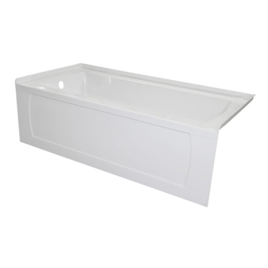 "Valley Acrylic OVO 66"" W x 30"" D White Acrylic Bathtub with Decorative Integral Skirt, Left Hand Drain, 66"" W x 30"" D x 20"" H"