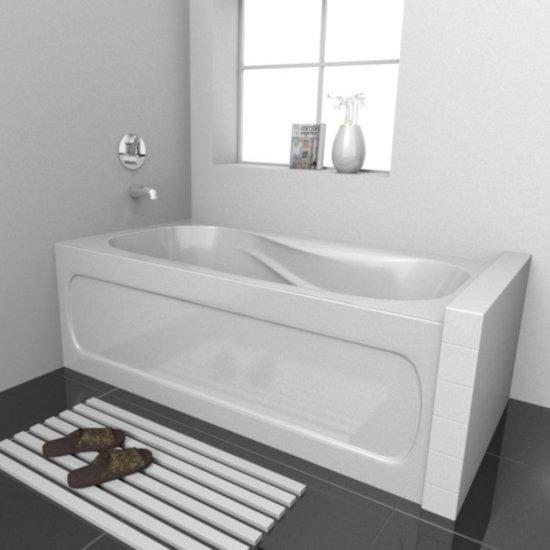 PRO Acrylic Bathtub, Left Drain