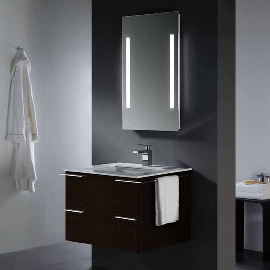 Vigo 31-inch Single Bathroom Vanity with Mirror and Lighting System, Wenge