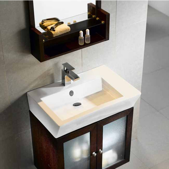 Vigo 25-inch Single Bathroom Vanity with Mirrors, Lighting System and Shelf, Wenge