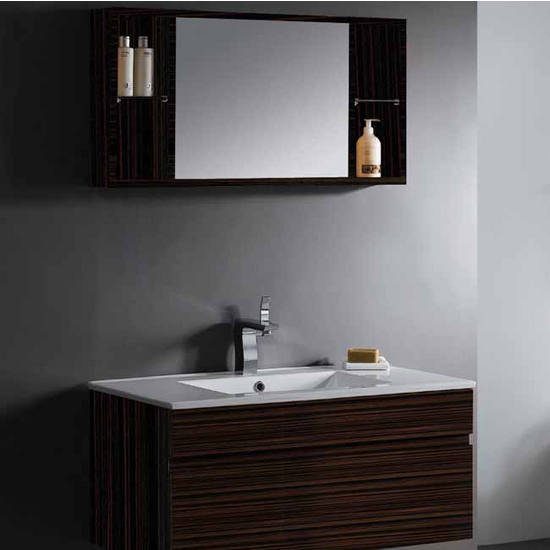 Vigo 35-inch Single Bathroom Vanity with Medicine Cabinet, Ebony
