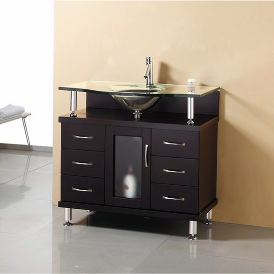 "Virtu Vincente 36"" Single Bath Vanity"
