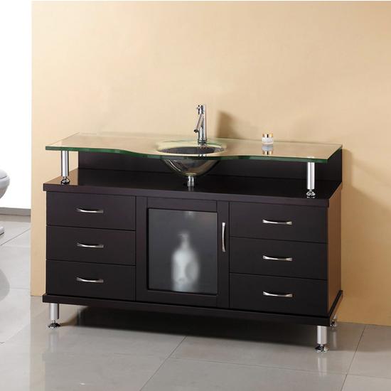 """Virtu Vincente 48"""" Single Bath Vanity with 6 Drawers & 1 Door"""