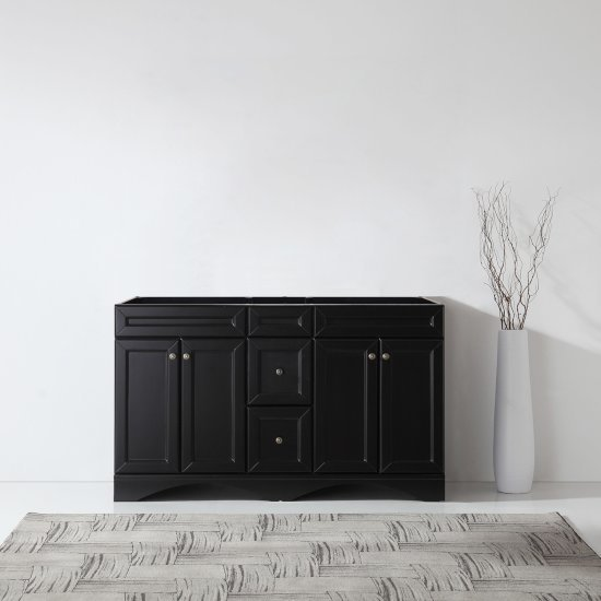 """Virtu USA Talisa 60"""" Vanity Base Cabinet Only in Espresso, 59-1/8"""" W x 21-1/2"""" D x 35-3/16"""" H"""