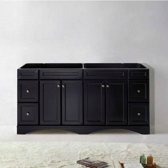 "Virtu USA Talisa Collection 72"" Double Bathroom Vanity Cabinet in Espresso"