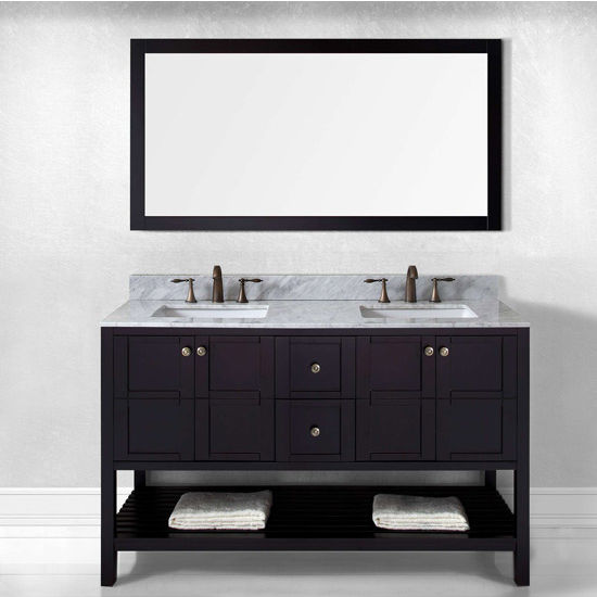 Espresso w/ Square Sinks Vanity Set