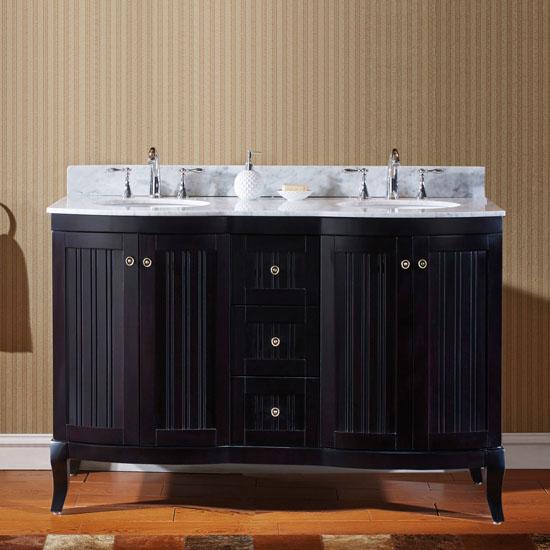 Espresso W Round Sinks No Mirror