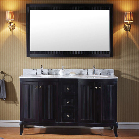 Espresso w/ Round Sinks Vanity Set