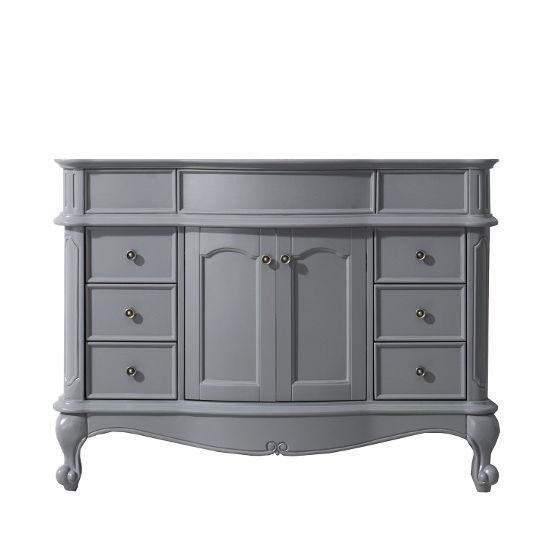 "Virtu USA Norhaven 48"" Single Sink Bathroom Vanity Cabinet in Grey, 47-3/16""W x 23-3/16""D x 34-5/8""H"