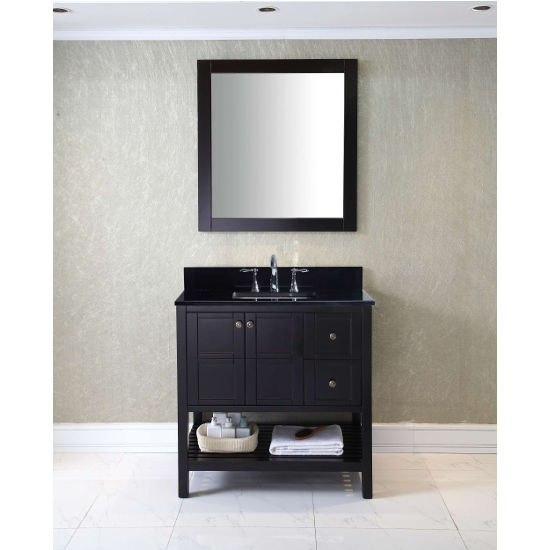 Virtu USA 36u0027u0027 Winterfell Single Sink Bathroom Vanity Set In Espresso