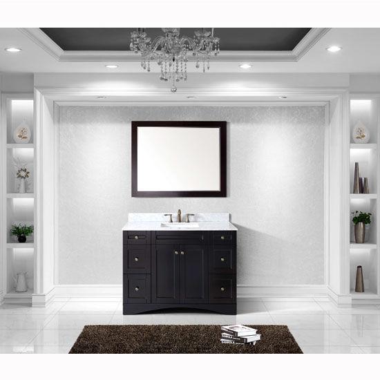 Espresso w/ Square Sink Vanity Set