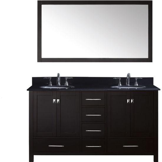 Caroline Avenue 60 39 39 Double Bathroom Vanity Cabinet Set In Espresso Grey Or White Includes