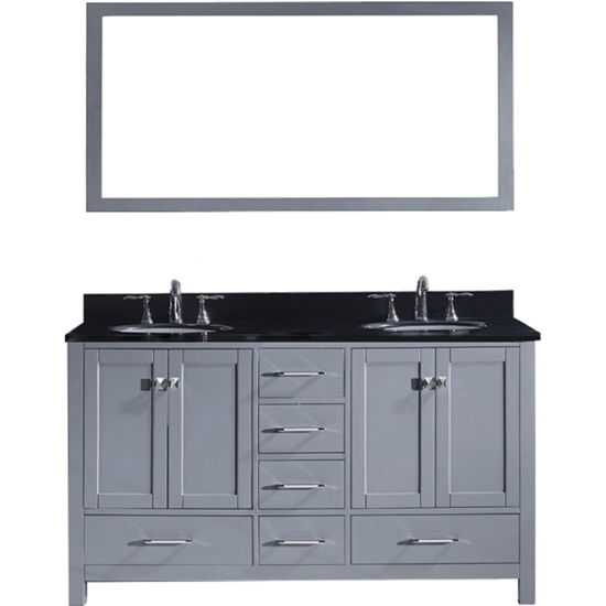 Caroline Avenue 60 Double Bathroom Vanity Cabinet Set In