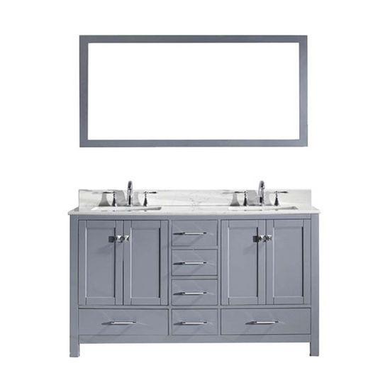 Vanity Front View : Quot caroline avenue double sink bathroom vanity with