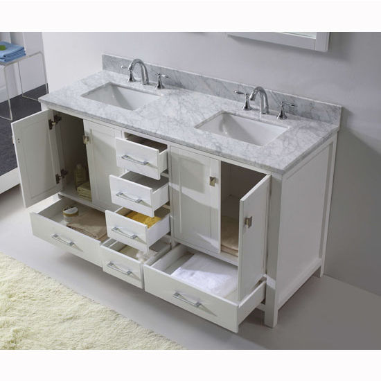 View Larger Image60 Caroline Avenue Double Sink Bathroom Vanity By Virtu  USA Made