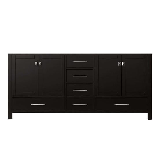 Virtu USA 72'' Caroline Avenue Double Sink Cabinet, Espresso