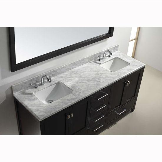 View Larger Image. 72   Caroline Avenue Double Sink Bathroom Vanity by Virtu USA Made