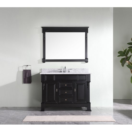 Dark Walnut w/ Round Sink Vanity Set