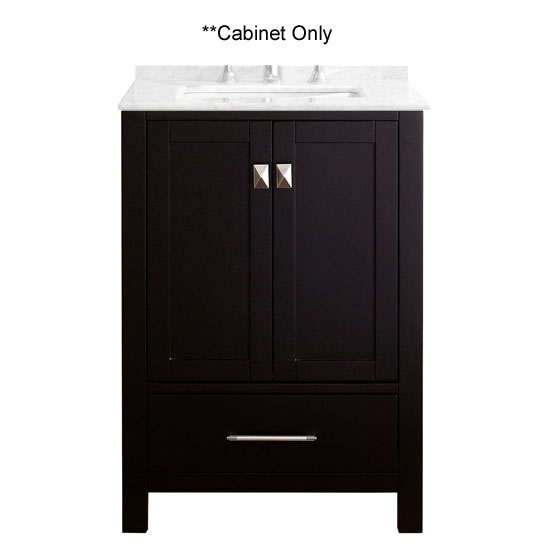 Virtu USA 24'' Caroline Avenue Single Sink Cabinet, Espresso