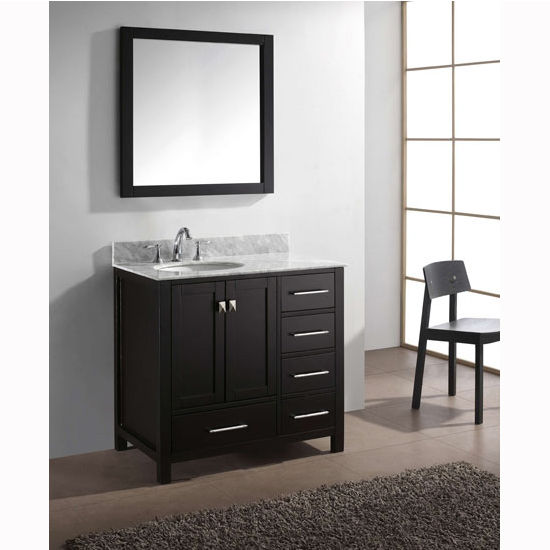 Virtu USA 36'' Caroline Avenue Single Sink Cabinet, Espresso