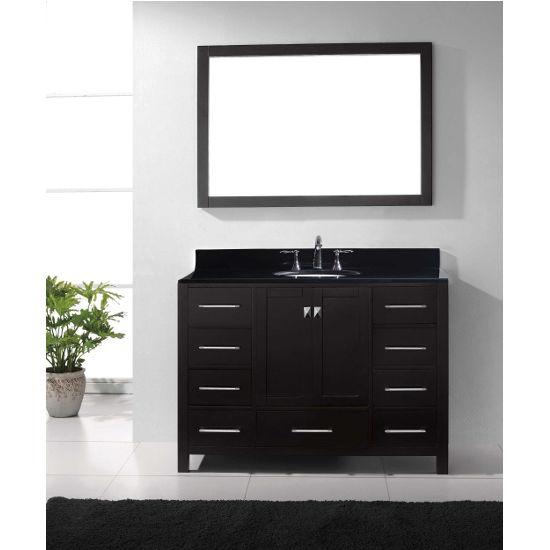 """Virtu USA Caroline Avenue 48"""" Single Bathroom Vanity Set"""