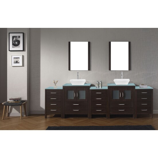 "Virtu USA Dior 110"" Double Bathroom Vanity Set"