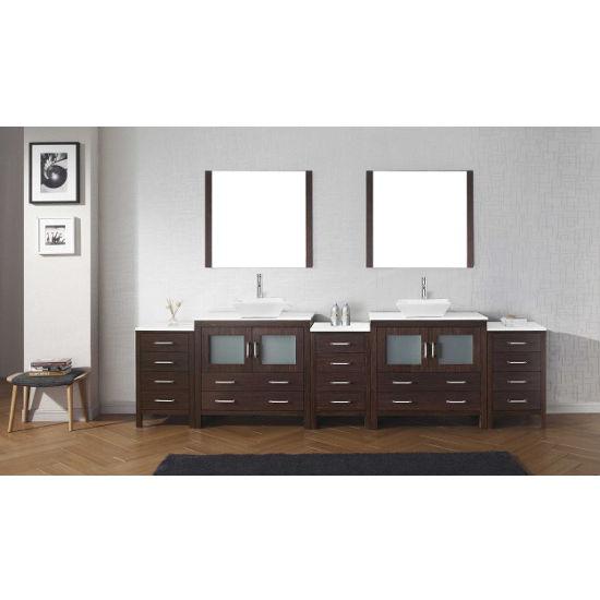 "Virtu USA Dior 118"" Double Bathroom Vanity Set"