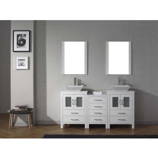 Bathroom Vanities  Dior Double Sinks Bathroom Vanity Set In - 66 double sink bathroom vanity