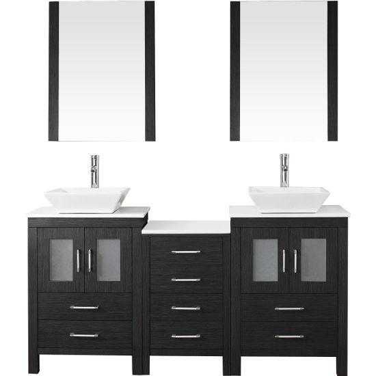 Bathroom vanities 66 39 39 dior double sinks bathroom vanity - 66 inch bathroom vanity double sink ...