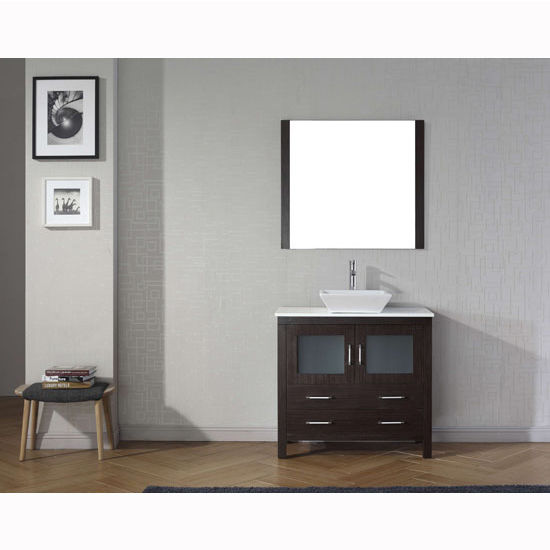 "Virtu USA Dior 36"" Single Sink Bathroom Vanity Set"