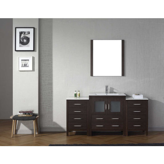 Espresso, Integrated Sink with Single, Single Mirror- Front View