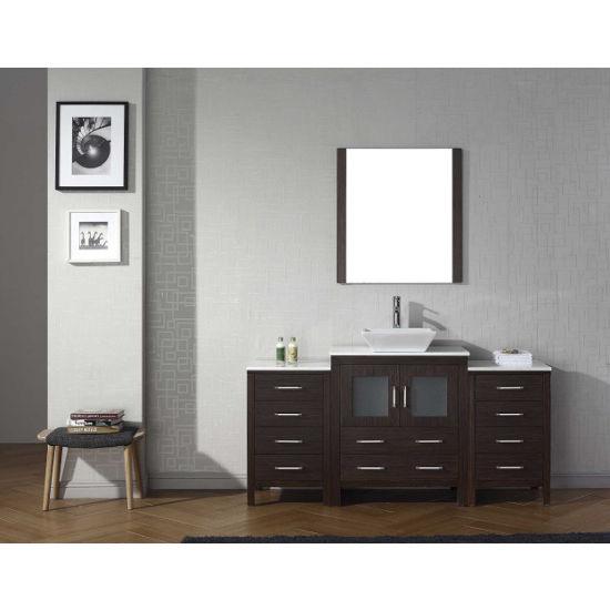 """Virtu USA Dior 66"""" Single Sink Bathroom Vanity Set"""