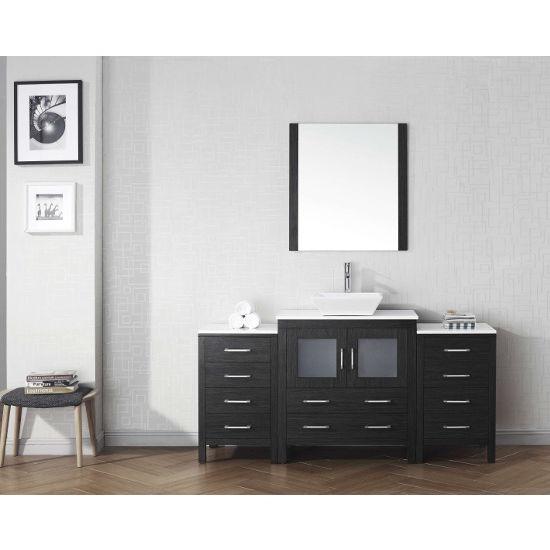 "Virtu USA Dior 68"" Single Sink  Sink Bathroom Vanity Set"