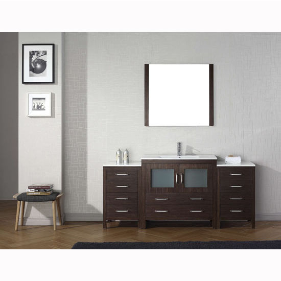 Espresso w/ Ceramic Top Vanity Set