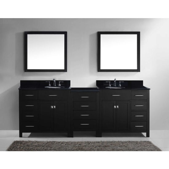 Caroline Parkway Double Bathroom Vanity Set With Main - Round bathroom vanity cabinets