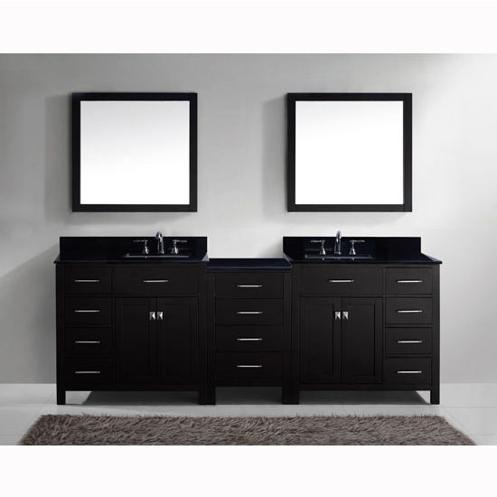 Caroline Parkway 93 Double Bathroom Vanity Set With 2 Main Cabinets Amp Middle Cabinet In