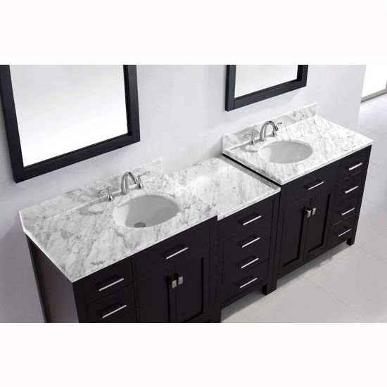 93\'\' Caroline Parkway Double Sink Bathroom Vanity by Virtu USA ...