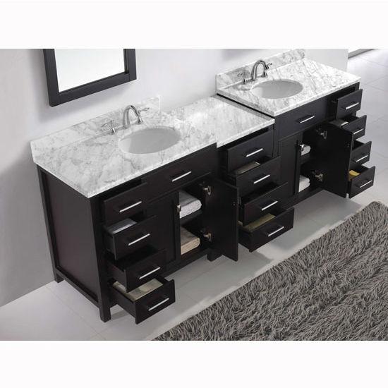 Caroline Parkway 93 Double Bathroom Vanity Set With 2