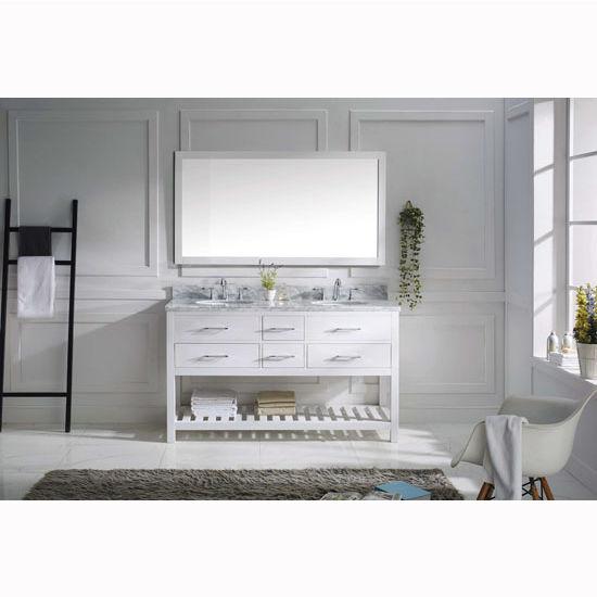 Bathroom Vanities 60 39 39 Caroline Estate Double Round Or Square Sinks Bathroom Vanity Set In