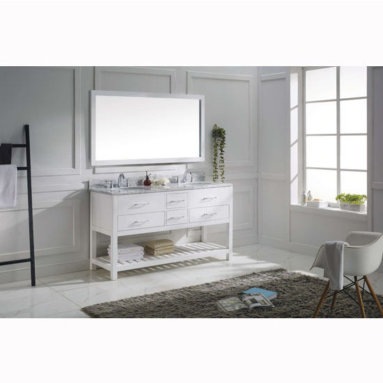 Bathroom vanities 60 39 39 caroline estate double round or for 60 inch framed mirror