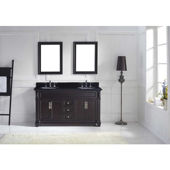 "Virtu USA Victoria 60"" Double Bathroom Vanity Cabinet Set"