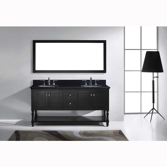 "Virtu USA Julianna 72"" Double Bathroom Vanity Cabinet Set"