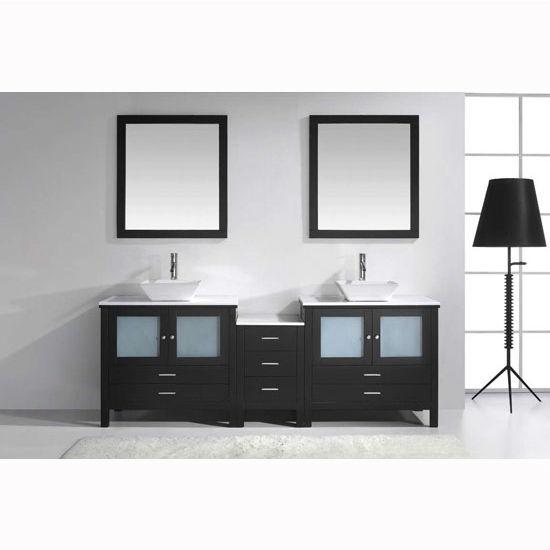 90 Inch Double Sink Bathroom Vanity: Virtu USA Brentford 90'' Double Sink Bathroom Vanity With