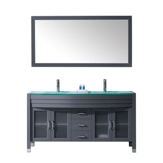 Bathroom Vanities Virtu Usa Ava 63 39 39 Complete Double Bath Vanity Set In Multiple Finishes And